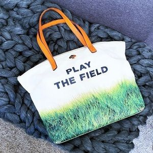 Kate Spade tote play the field terry handbag purse